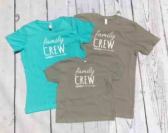 Personalized Family Crew shirt. Name and Birth Year (any number) Family Crew shirts. Cousin Crew. Family tribe. All sizes Newborn to 3XL