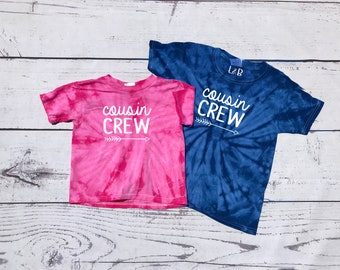 Cousin Crew Tie Dye Shirt. Toddler Youth and Adult Size. DOES NOT include NAME/ Number to add click Link in item description!