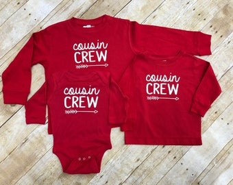The Original Cousin Crew Long Sleeve shirts. Cousin Crew shirts. Cousin Crew shirts. Cousin Squad or tribe. Infant, toddler and Youth sizes.