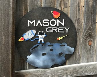 """Astronaut and Rocket sign 