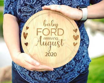 Pregnancy Announcement | Baby Announcement Photo Prop |  New baby Gift | Nursery Decor | Gender Reveal Announcement | Baby Name Announcement