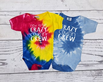 Crazy cousin Crew Tie Dye bodysuit. The original Cousin crew shirts. DOES NOT include NAME or Number Link in item description!