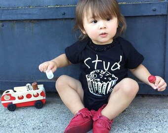 Stud Muffin. Stud Muffin one-piece. Stud one-piece. cute baby one-pieces. Muffin. Cupcake. Fast shipping!