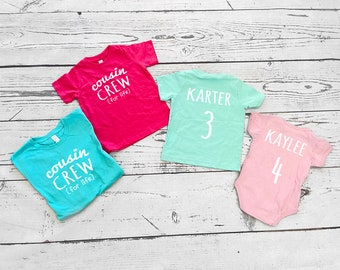 Personalized Cousin Crew (for life) shirt | The Original Cousin Crew shirt | Newborn - 3XL | MADE TO ORDER | Ships in 3-6 Business days