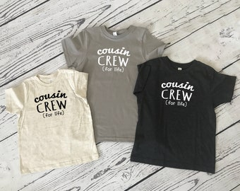 Adult Cousin Crew (for life) shirts | Fast Shipping| These color/sizes ship in 1-3 Business days | STOCKED COLORS: Adult