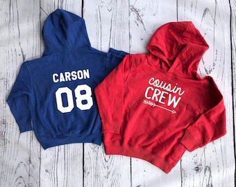 Personalized Cousin Crew Sweatshirt. More Colors Available! Cousin Squad or Cousin tribe.  Cousin Crew for life