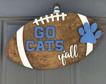 U of K Football door hanger | Wooden Door hanger | Football season | Kentucky Wildcats | SEC Football | Football Y'all | UK Football
