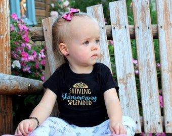 Shining shimmering splendid shirt.  All sizes NB-3XL. Princess shirt. Jasmine costume. Family vacation shirt.