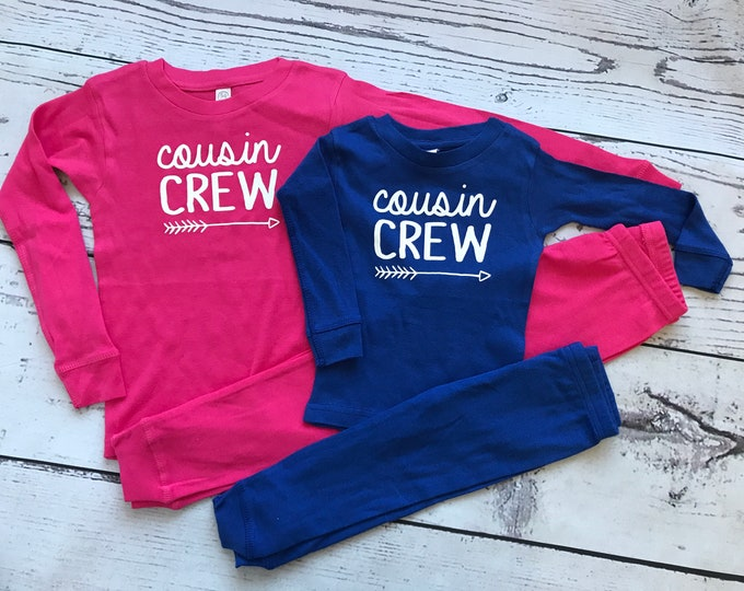 Featured listing image: Cousin Crew Pajamas. The Original Cousin Crew Infant, Toddler and Youth sizes. Cousin Pajama sets. Family Reunion Shirts