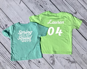 Personalized Spring Break shirt. Name and age Cousin Crew shirts. Cousin Squad. Cousin tribe. All sizes. Ships in 4-6 Business days!