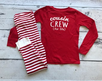 Infant and Toddler Cousin Crew (for life) Pajamas. The Original Cousin Crew Pajamas 6 months - 5/6 Cousin Pajama sets. Family Reunion Shirts