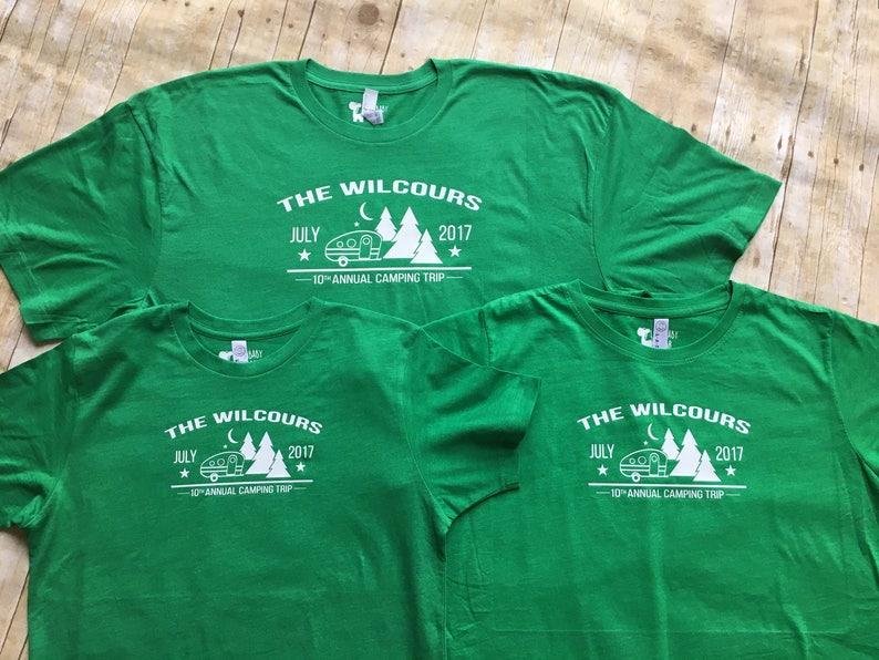 Family Camping shirts  Family Vacation Shirts  Camper and trees  shirts   Customizable family vacation shirts  Camp Shirts  Camping shirts