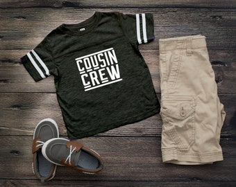 Smoke Cousin Crew team shirt with Name & Number on Back. The original Cousin Crew Personalized shirt. Family reunion shirts. Smoke