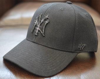 34bda804f4e Bling Bling Customized New York Yankees Cap With Swarovski Crystals
