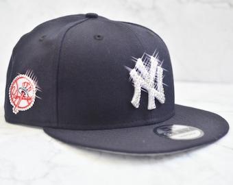 113860c2796eb Bling Bling Customized New York Yankees New Era MLB Vintage 9FIFTY Snapback  Cap With Swarovski Crystals