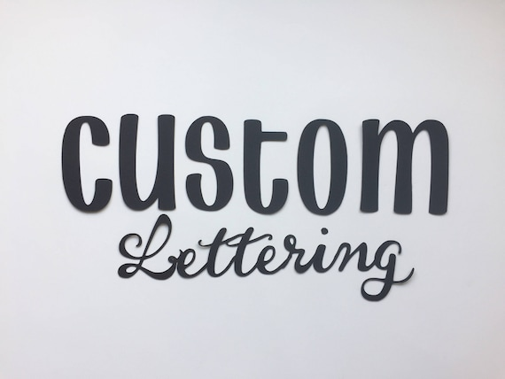 3 die cut letters custom letters banner letters