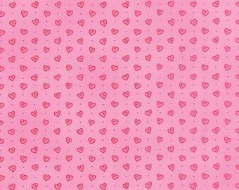 Ever After from Deb Strain for Moda Tossed Hearts in passionate pink choose your length