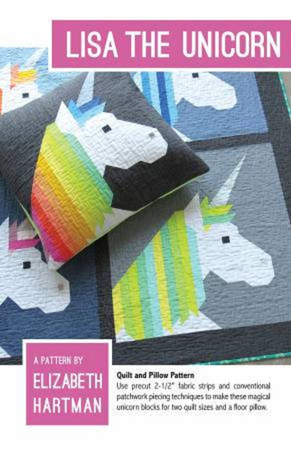 Lisa the Unicorn quilt kit from Sew Elegantly - quilt pattern by Elizabeth Hartman