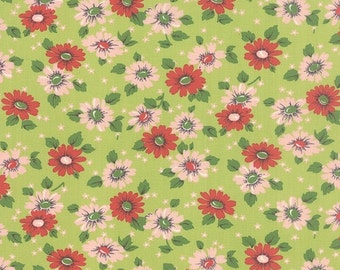 SALE Erin Michaels Purebred  from Moda Feedsack Floral in Pasture Green 1 yard