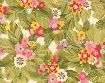 SALE  Lulu by Chez Moi for Moda Budding Bouquet in cream  1 yard