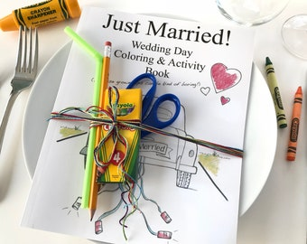 Wedding Day Coloring & Activity Book for Kids (SET OF 5)