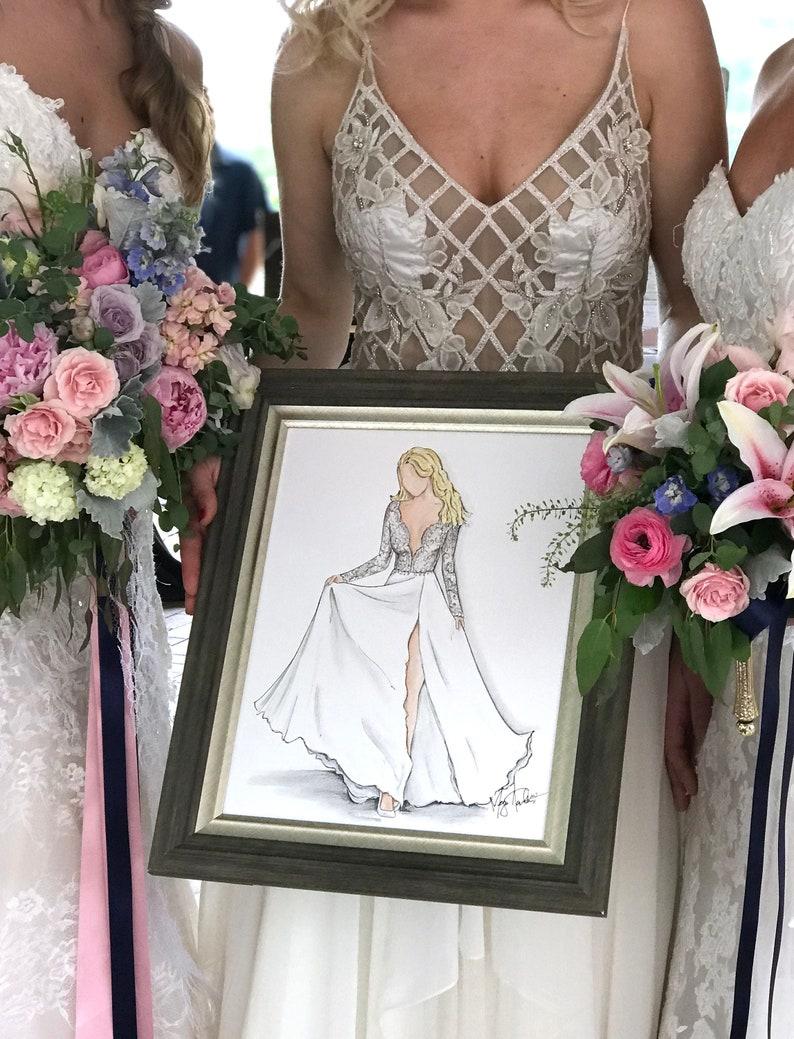 Custom Bride Full Body Likeness Illustration image 0