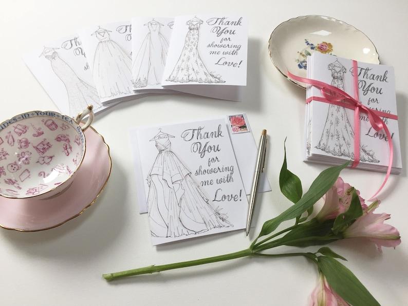 Bridal Shower Thank You Cards SET OF 10 image 0