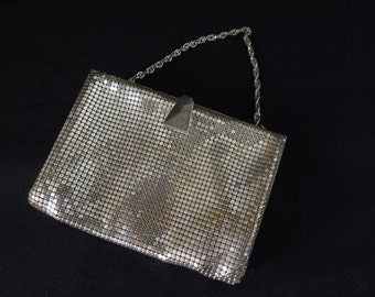 Vintage Mesh style evening bag with Metal Clasp