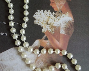1980's-90's Faux Pearl Necklace