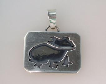 Handmade Sterling Silver Frog Pendant