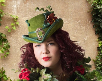Poison Ivy Inspired Riding Hat