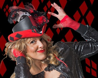 Harley Quinn Inspired Riding Hat