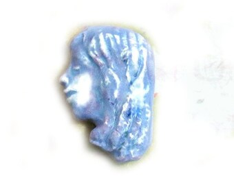 Focal Bead,  Face Bead, Handmade bead,  Ceramic bead - pottery beads - clay beads -  # 113