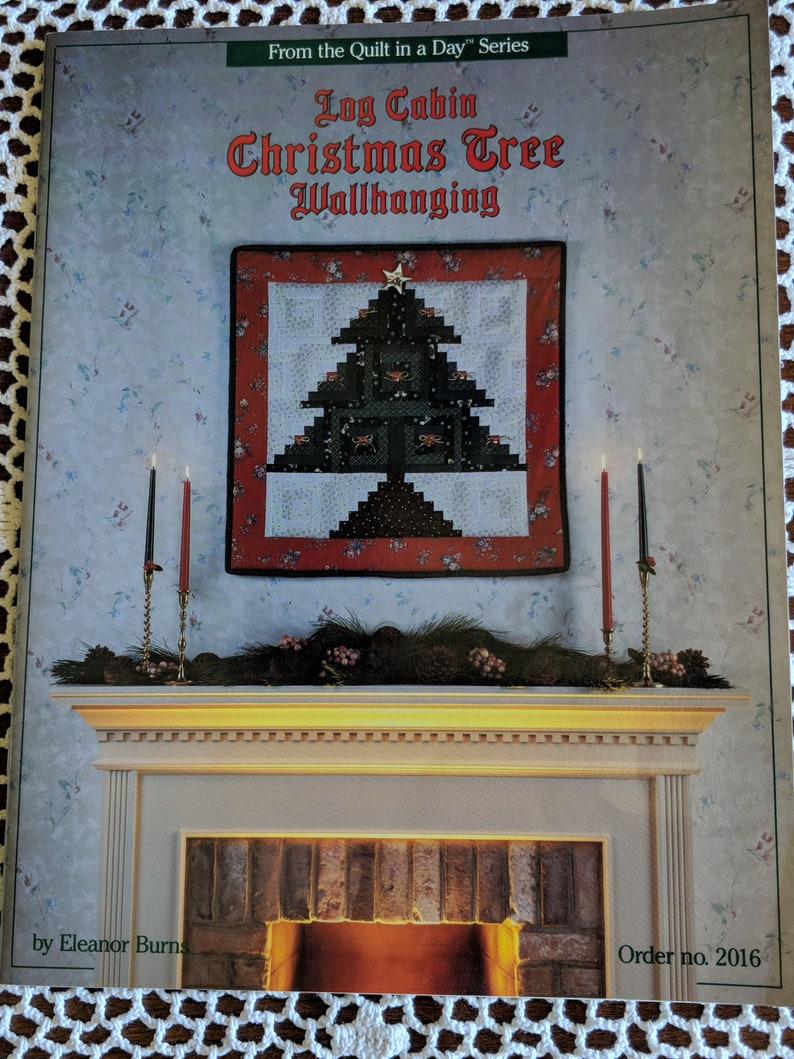 Log Cabin Chritsmas tree Quilting pamplets lot of 2 Advent Calendars