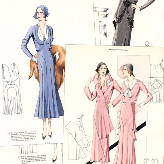 PDF of 30s haute couture sewing pattern catalog | Etsy