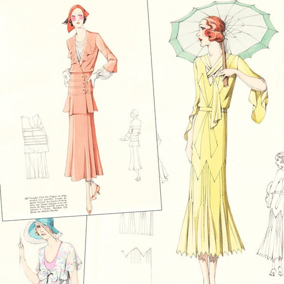 Pdf Of 30s Haute Couture Sewing Pattern Catalog Etsy