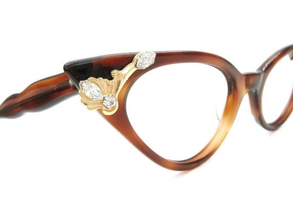 Vintage Rhinestone 50s Cat Eye Glasses Sunglasses