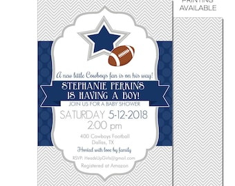 dallas cowboys baby invitations