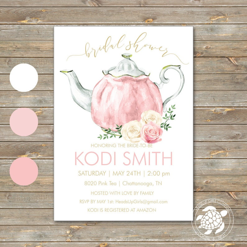 d07f402b13c Personalized Bridal Shower Invitations and Envelopes with