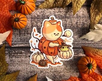 Pumpkin Buddies Halloween Vinyl Sticker