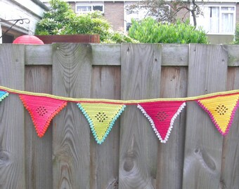 Crochet Garland, Colorful