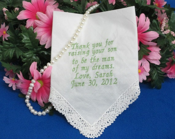 Handkerchief Personalized Wedding
