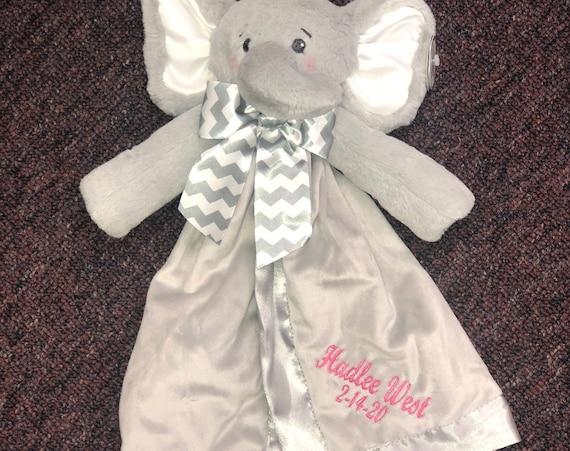 Snuggle Buddy Personalized Elephant