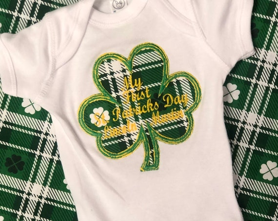 My 1st St Patrick's day personalized Onsie