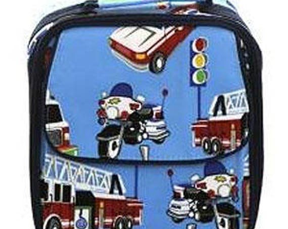 Personalized Emergency Car Pattern Lunch Box