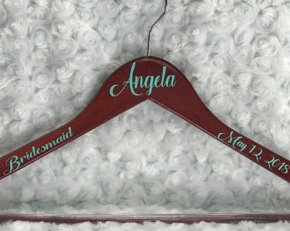 Personalized Wedding Hanger- Bridal Party Hangers- Bridesmaids Gifts-Bridal Hanger