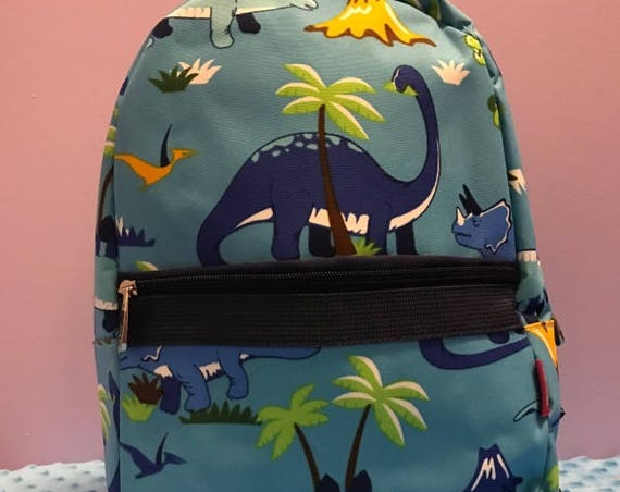 Personalized Preschool Backpack With Dinosaurs