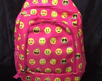 Personalized Kids Backpack Embroidered Not Listening Emoji Monogrammed with Name of Your Choice Perfect Kids School Gift