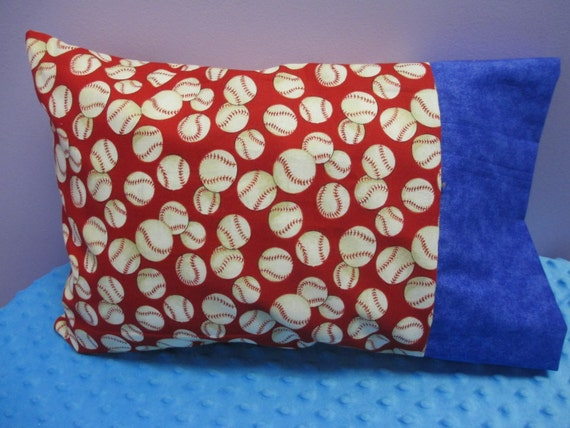 Travel Pillowcase Personalized Baseball Travel Size Handmade
