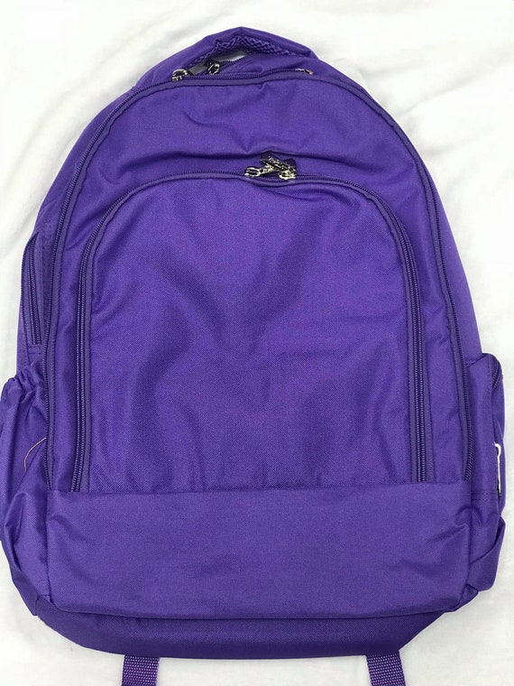 Monogrammed Backpack, Personalized Purple Bookbag, Back to School, School Bookbag, Backpack Bundle, Lunchbox, Back to School Bundle